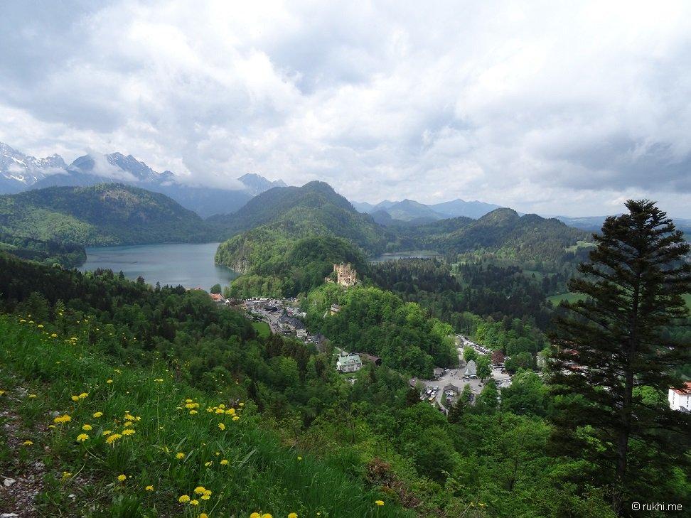 Ausblick auf dem Rückweg von der Marienbrücke zu Neuschwanstein
