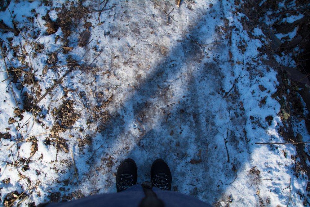 Glatteis | Eine Sonntagsrunde auf Glatteis um den Heinitzer Weiher | Photo Diary